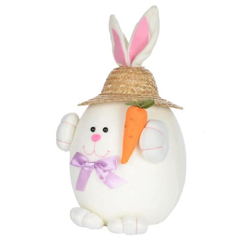 bunny decorations easter bunny rabbit decoration decor with straw hat new