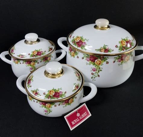 country pots pans royal albert roses cookware germany china rose soup pc lidded dishes tea doulton dinnerware party bowl