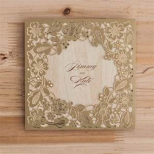 Brown Laser Cut Hindu Wedding Card Diamond Wedding Cards