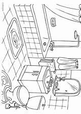 Coloring Bathroom Pages Badkamer Sheets Kleurplaat Printable Colouring Edupics Print Drawing Sheet Hygiene Drawings Bedroom Paper Designlooter Interior Toilets 7kb sketch template