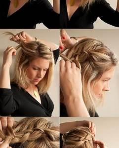 Coiffure Tresse Facile Cheveux Mi Long : comment faire une coiffure facile cheveux mi longs ~ Melissatoandfro.com Idées de Décoration