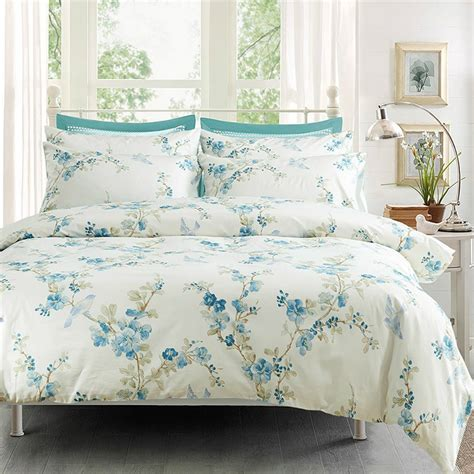 watercolor comforter set watercolor tree blossom and birds duvet cover set eikei