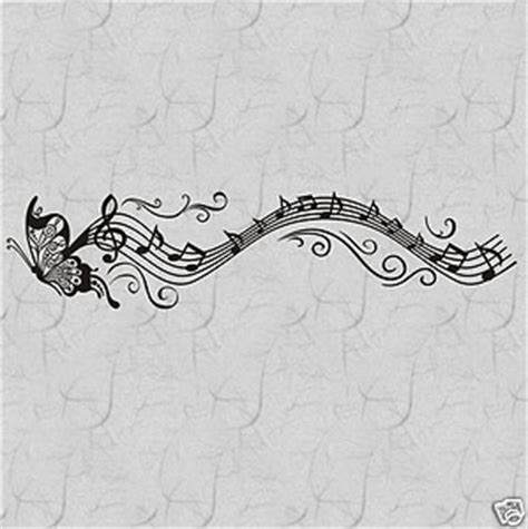 details  musical butterfly  notes vinyl wall