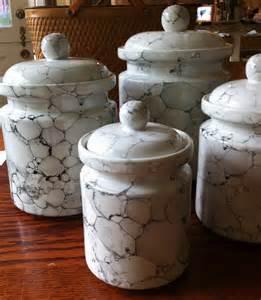 unique kitchen canisters sets white kitchen canister set ceramic marble glaze