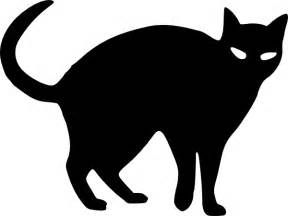black cat silhouette cat silhouette clip at clker vector clip