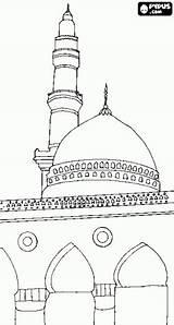 Mosque Mesquita Colorir Worship Desenho Islam Place Pintar Coloring Islamismo Desenhos Islamic Colouring Ensino Religioso Eid sketch template