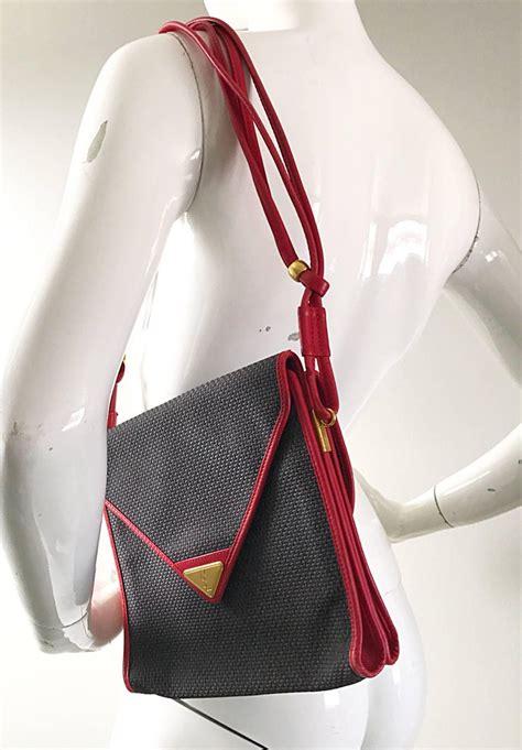 vintage yves saint laurent waxed canvas leather crossbody ysl shoulder bag  sale  stdibs
