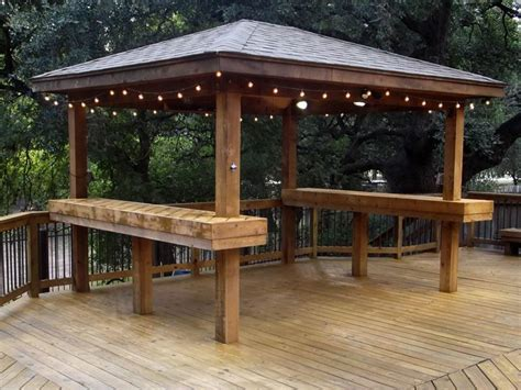 gazebo with built in lights decor references