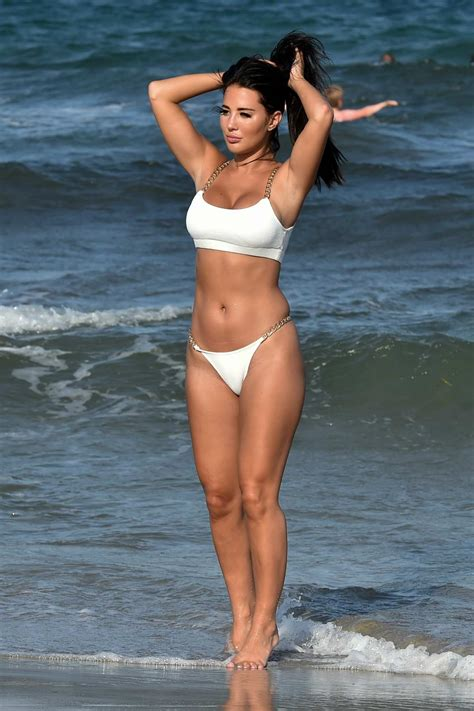 Yazmin Oukhellou shows off her bikini body as she enjoys ...