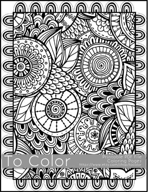printable coloring pages  adults   large doodle