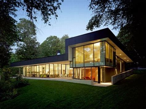 pictures small glass house design casas modernistas de cristal interiores