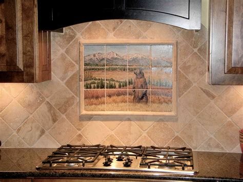painted tiles kitchen backsplash wildlife wildlife artworks by 6981