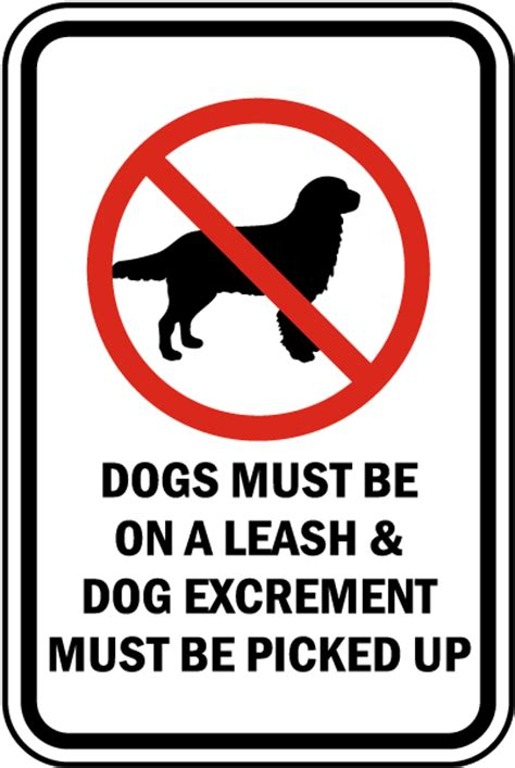 dogs must be on a leash sign f7588 by safetysign com