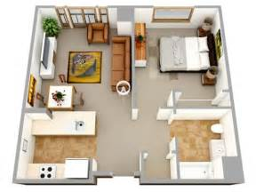 Top Photos Ideas For Single Bedroom House Plans 3d one bedroom small house floor plans for single or