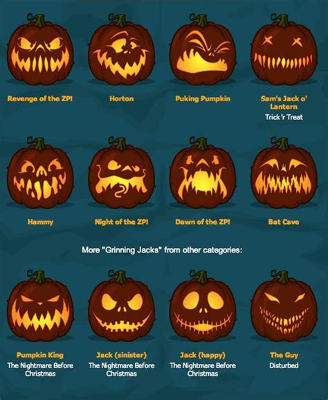 pumpkin faces for to carve zombie pumpkins the best pumpkin carving templates around how do it info