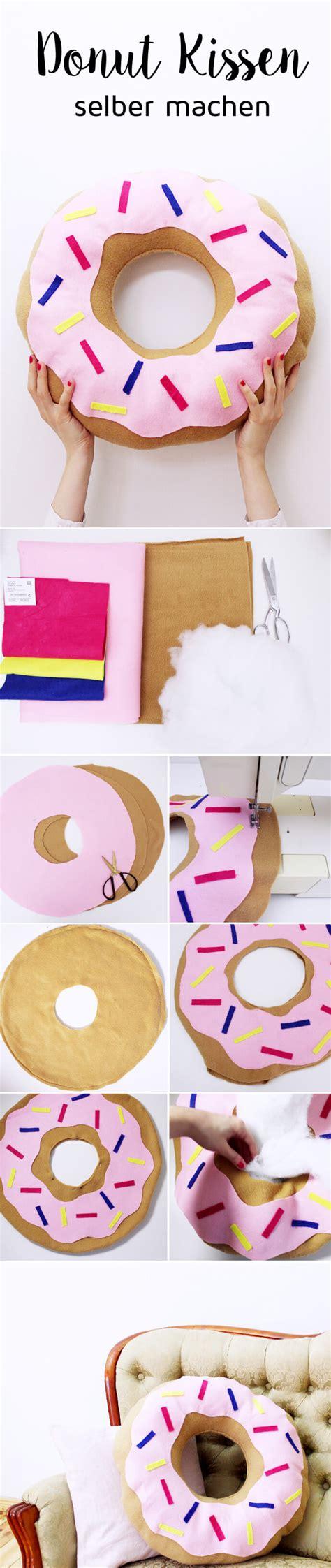 kissen selber machen diy donut kissen selber machen variante mit und ohne n 228 hen