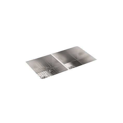 kohler stainless steel sink and faucet package kohler vault drop in undermount stainless steel 33 in 3