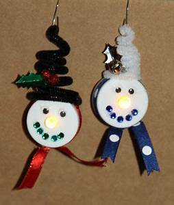Tealight Snowman with Ear Muffs
