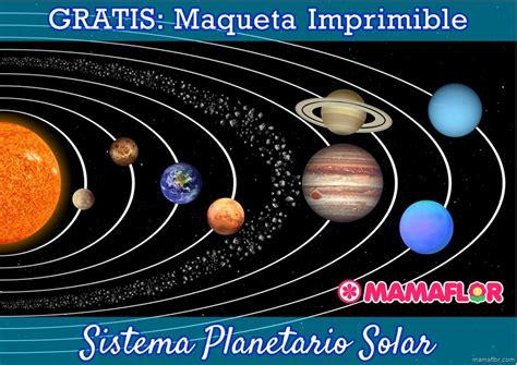 maqueta sistema solar para imprimir manualidades mamaflor