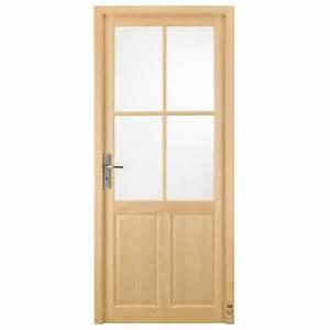 porte d39interieur bois langeais pasquet menuiseries With porte de garage enroulable avec porte vitrée intérieure bois