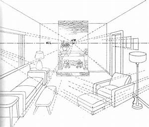How to Draw a Room with Perspective Drawing Tutorial of a Living Room How to Draw Step by Step