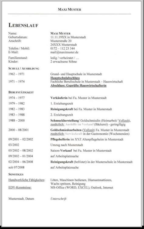 Cv Vorlage by Curriculum Vitae Vorlage Englisch
