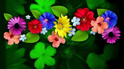 colorful flowers colorful flowers hd wallpaper wallpaper studio 10 tens