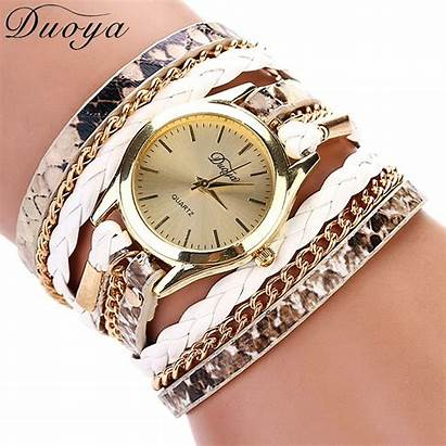 Bracelet Watches Gold Ladies Duoya Geneva Quartz