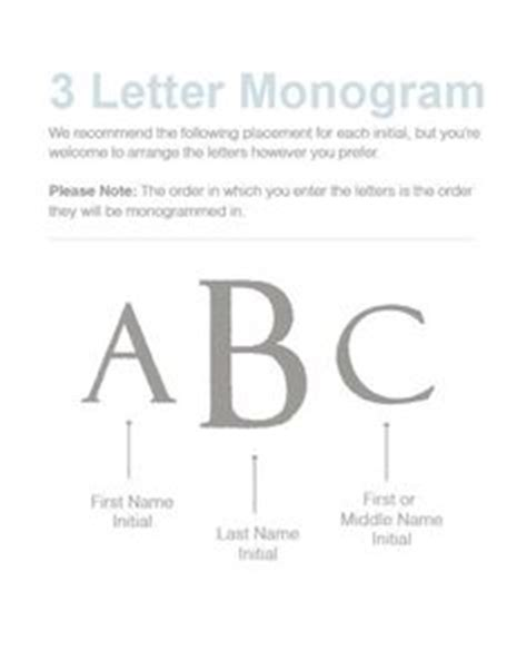 common monogram placement  varied applications sizes  placements   adjusted