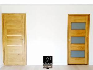 bloc porte en chene avec 2 menuiserie peuron With porte de garage avec bloc porte bois