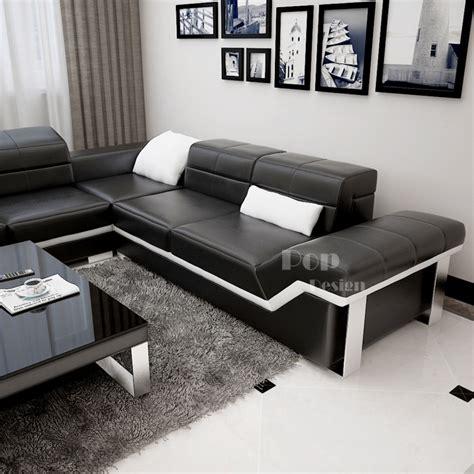 canape d angle luxe canapé d 39 angle en cuir design torino l pop design fr