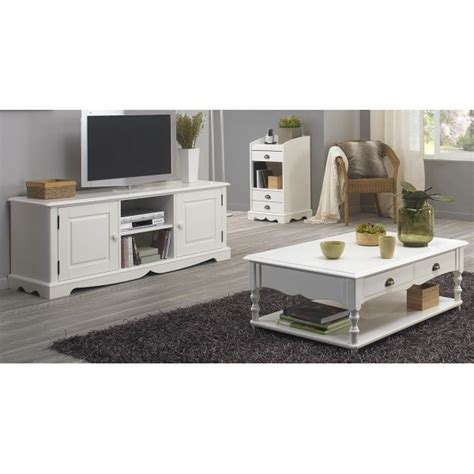 ensemble meuble tv et table basse blancs beaux meubles