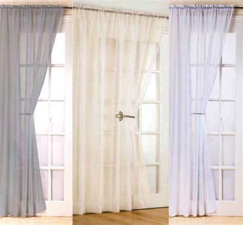 luxury fiji voile curtain blind door panel 48 quot 54 quot 72 quot 90