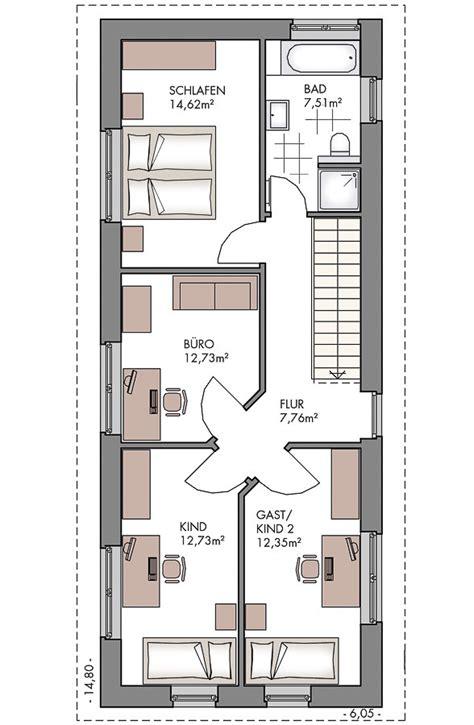 Schmales Haus Bauen by Schmaler Grundriss Einfamilienhaus