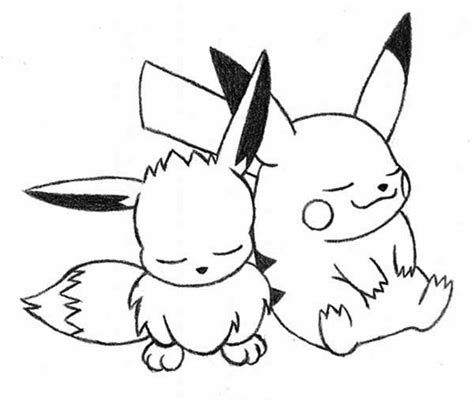 Kleurplaat Mega Evolutions Pikach by Eevee To Print Free Coloring Pages On Coloring Pages