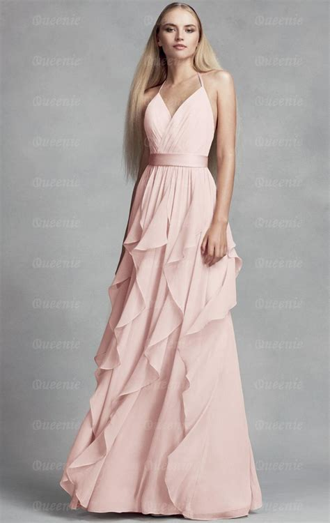 cheap chiffon blush bridesmaid dress bnned bridesmaid uk