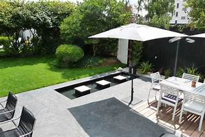 terrasse jardin moderne With fontaine exterieure de jardin moderne 10 amenagement de jardin et terrasse moderne en 42 photos