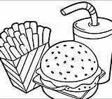 Coloring Pages Breakfast Pizza Chinese Printable Fast Lunch Colouring Getcolorings Hamburger Junk Pyramid Colorin Delicious sketch template