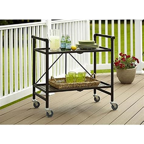 outdoor kitchen storage cart serving cart for dining room outdoor folding rolling wheels serving cart bar wheels portable 3873
