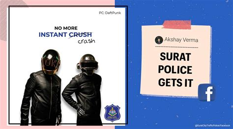 Surat Traffic Police's 'Get Lucky' post featuring Daft ...