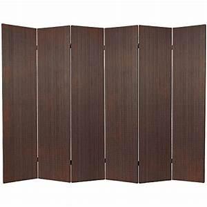 Oriental Furniture 6 ft Tall Frameless Bamboo Room