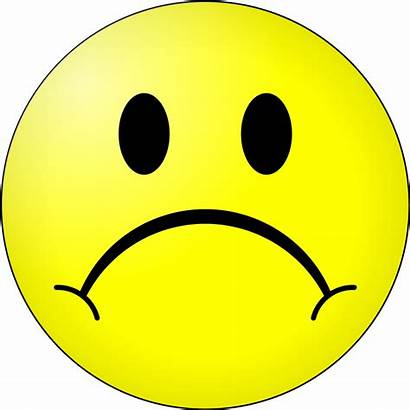 Sad Face Clip Smiley Clipart Frowny Transparent