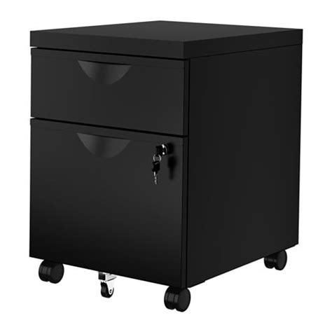 bureau metal ikea erik drawer unit w 2 drawers on casters black ikea
