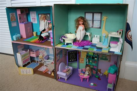 barbie box house fun family crafts