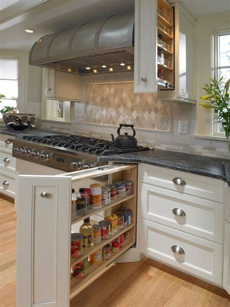 Fantastic kitchen with amazing pull out spice cabinet next