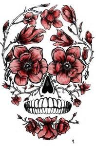Pretty Sugar Skull Tattoo Drawings