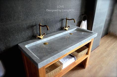 double trough carrara white marble bathroom sink