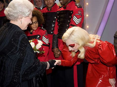 queen elizabeth england lady gaga ii meets daily entertainment