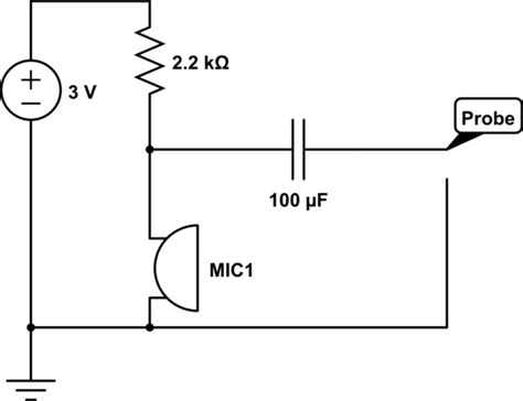 audio wiring an electret condenser microphone electrical engineering stack exchange