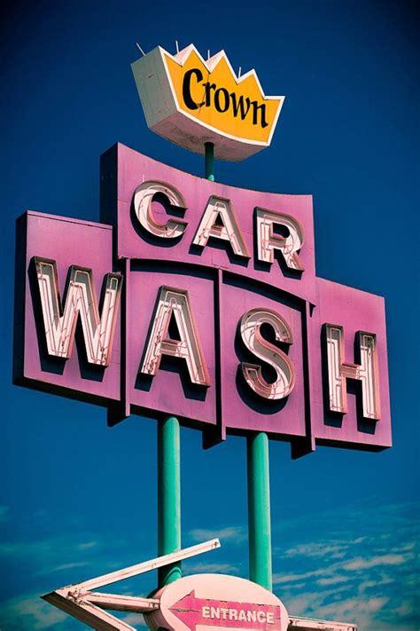 crown car wash vintage neon sign in west los angeles i